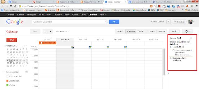Google Task in Google Calendar