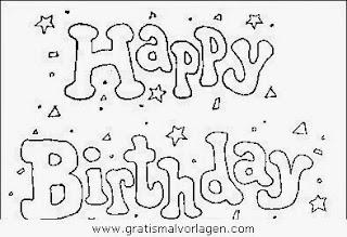 Geburtstag Kinder-Malvorlagen  - Gratis Ausmalbilder Geburtstag