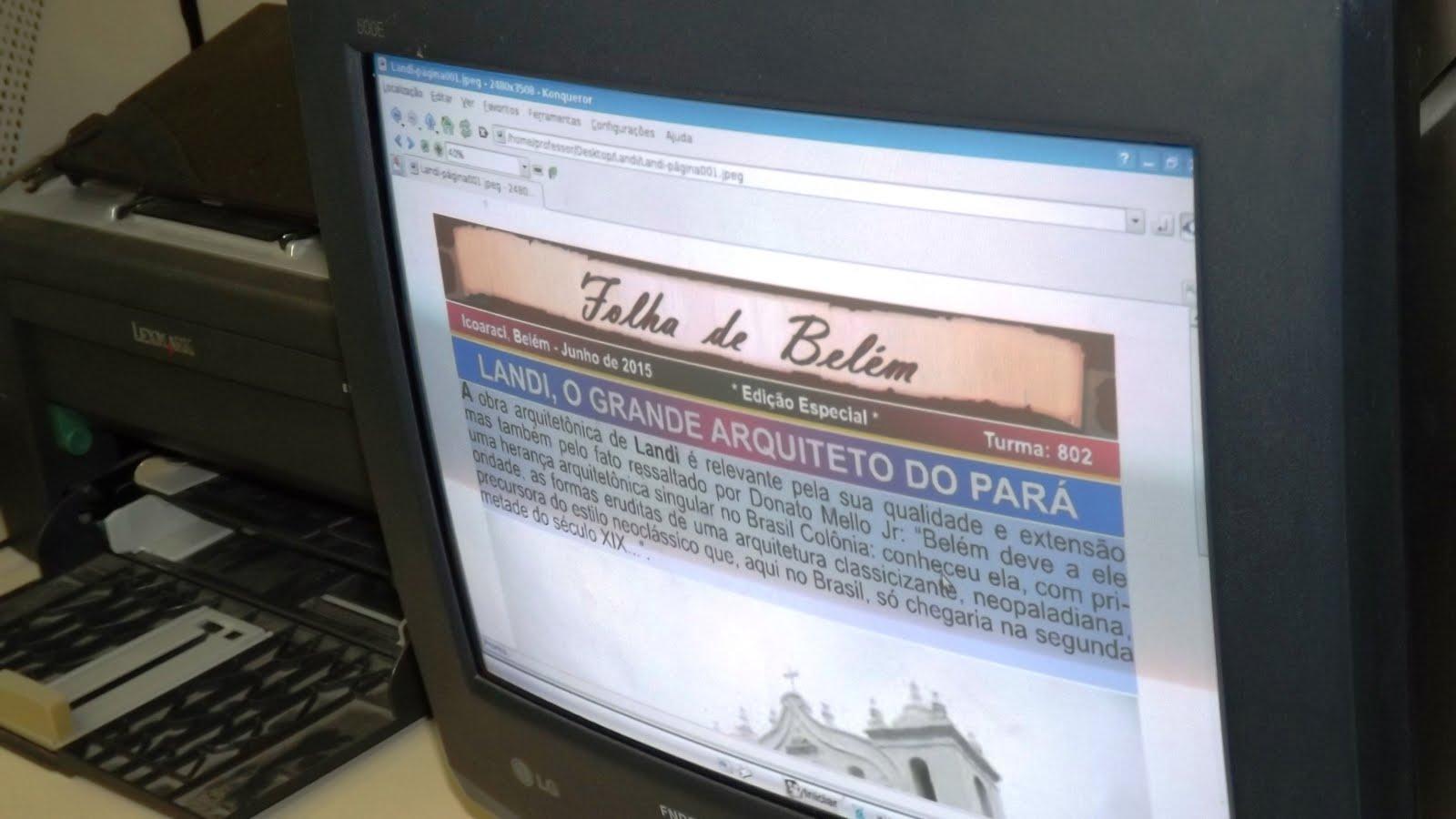 CAPA DO JORNAL FOLHA DE BELÉM