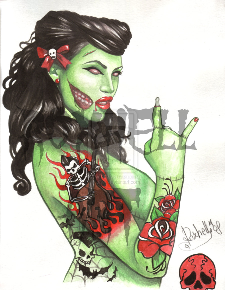 Zombie Pin Up Drawing All the girly things: ...