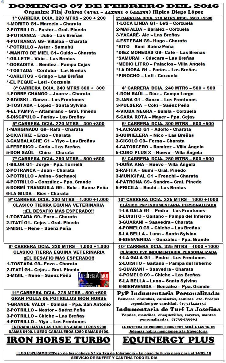 PROGRAMA PINEDO 7-2-16