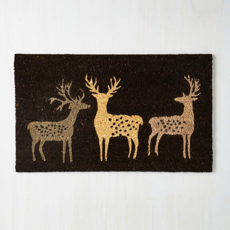 Holiday season door mat