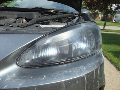 headlights after wet sanding