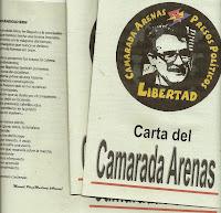 "Carta del ""Camarada Arenas"""