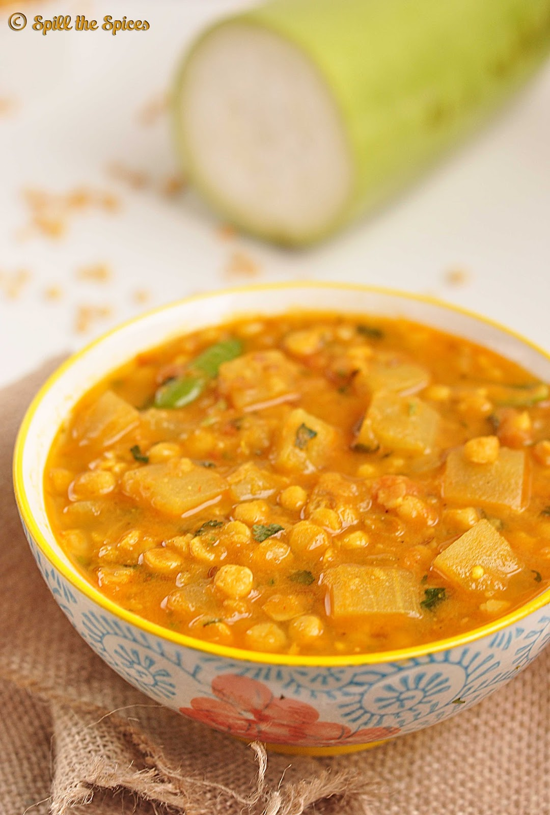 Lauki Chana Dal Sabzi | Bottlegourd Lentil Curry | Spill the Spices