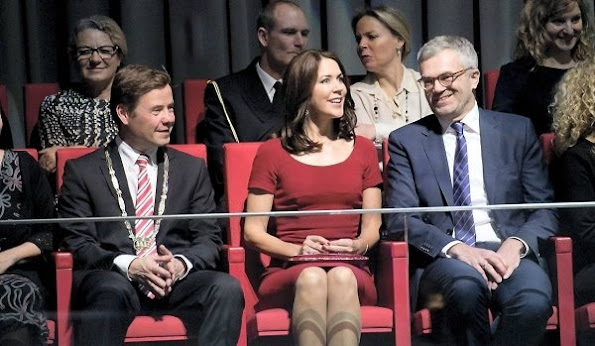 Crown Princess Mary of Denmark attended the TV2 Christmas Show at House of Music in Aalborg, Denmark