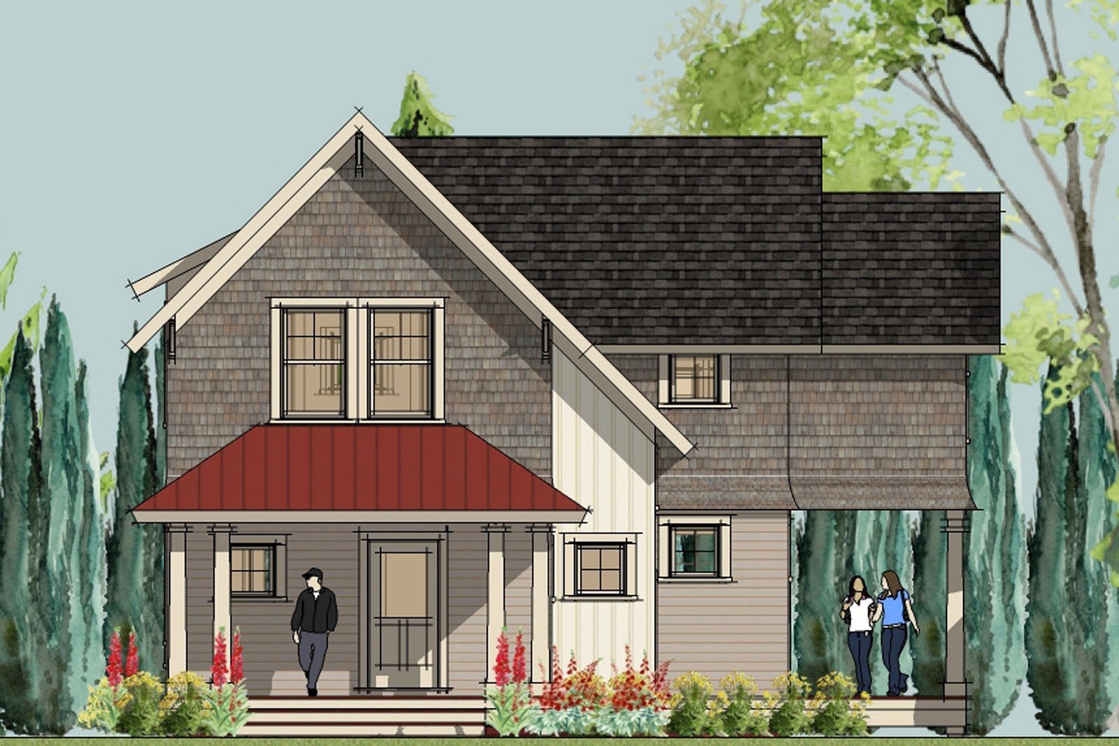front elevation - Unique Small Home Plans