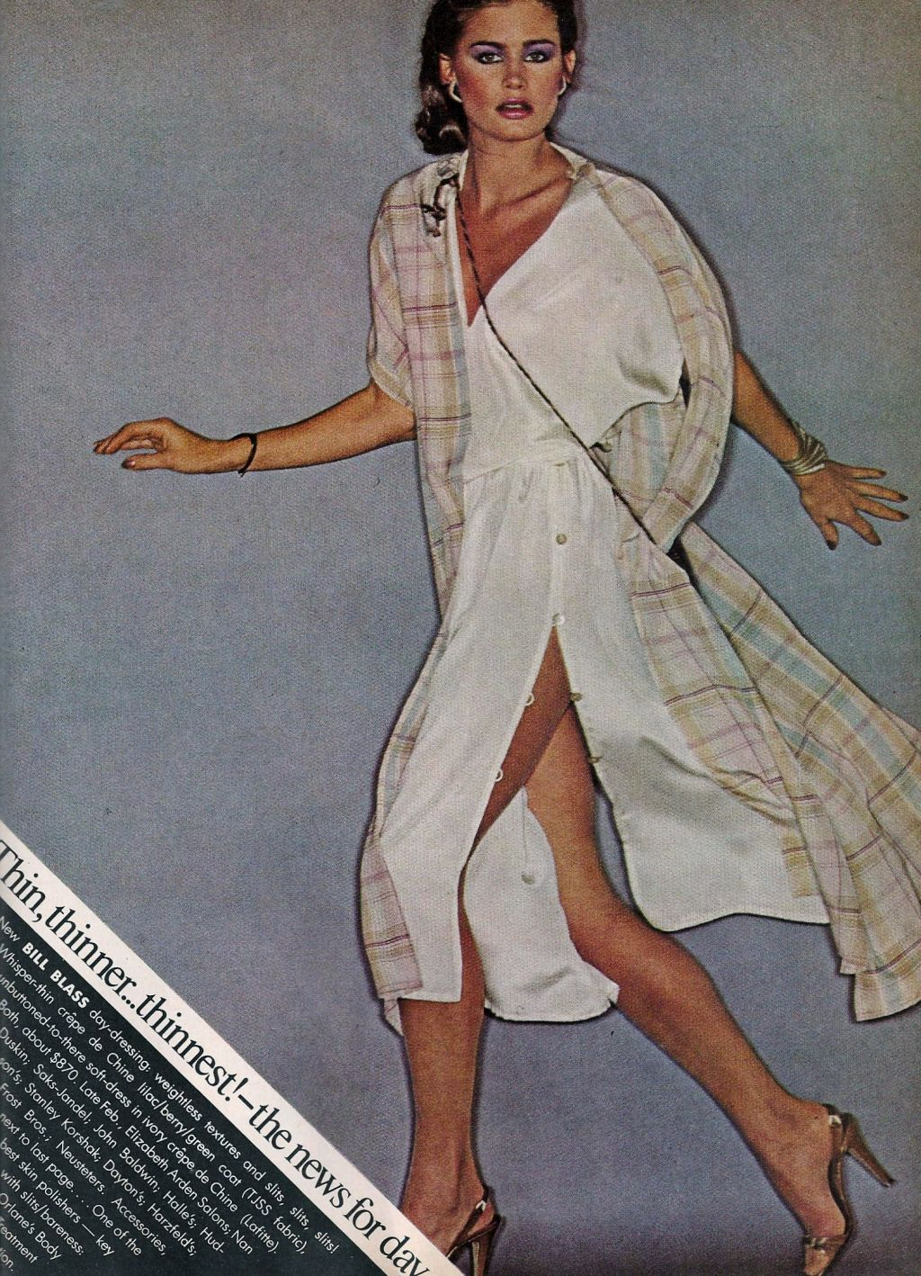 1970s style inspiration / how to style a shirt dress / vogue us february 1978 / via fashioned by love british fashion blog