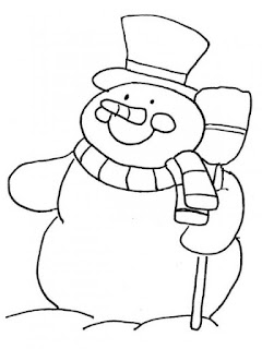 coloriage noel bonhomme de neige  à imprimer