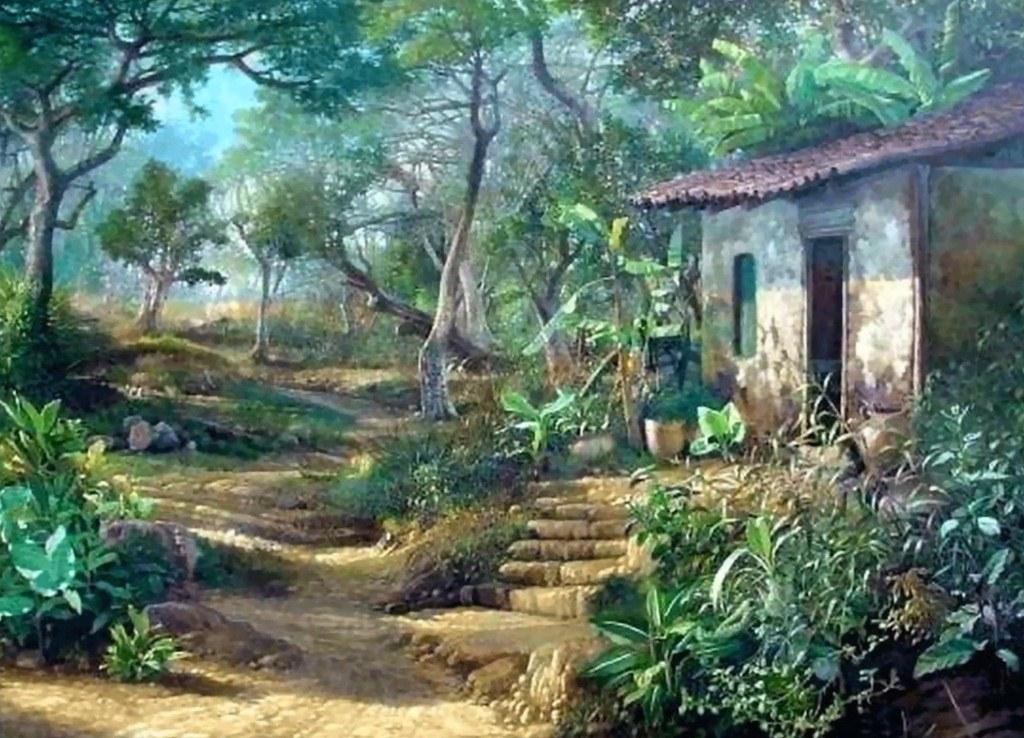 Pintura moderna y fotograf a art stica paisajes lienzos - Pinturas de madera ...