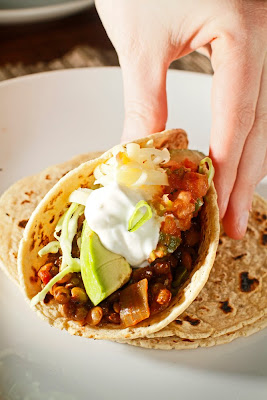 The Chubby Vegetarian: Spicy & Smoky Lentil Taco 'Meat'