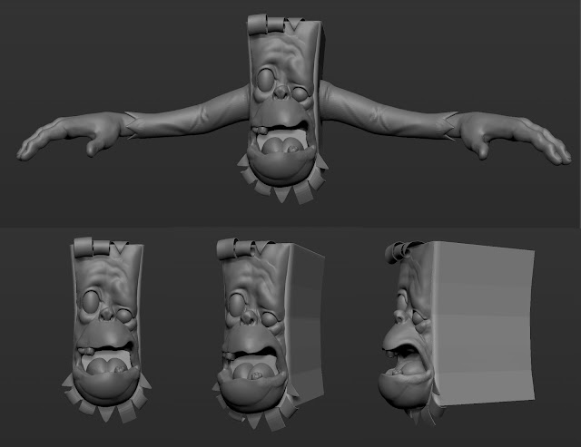 Pagemaster Horror Book Zbrush