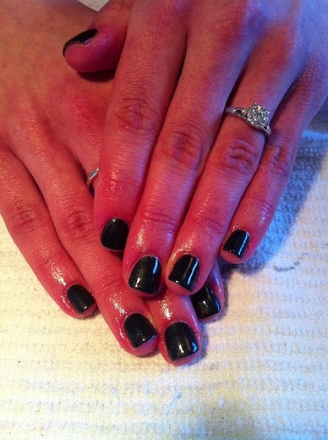 NOW natural nails without any enhancement acrylic backfill with a LED polish manicure This is 'abyss black' clean and classically simple glitz Pedicure Gel-Nails-Polish-LED-Polish-LED-Nails-Acrylic-Nails-Nail-Art