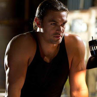 Jason Momoa in 'Bullet to the Head', looking stoic