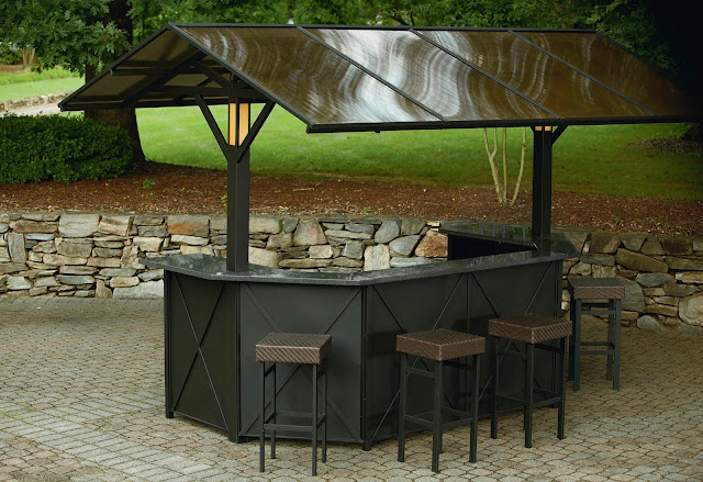 Grill Gazebo With Bar