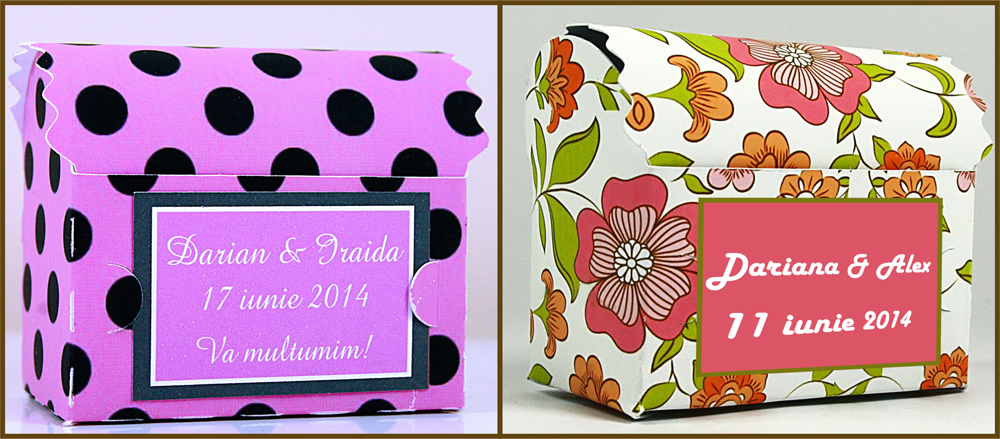 cutiute personalizate pentru nunta