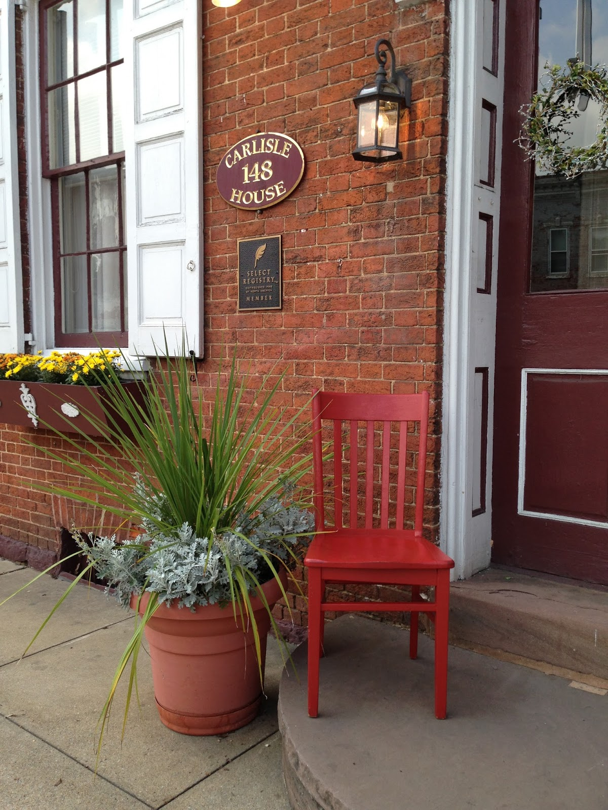 Carlisle house bed breakfast blog red chair travels to for The carlisle house