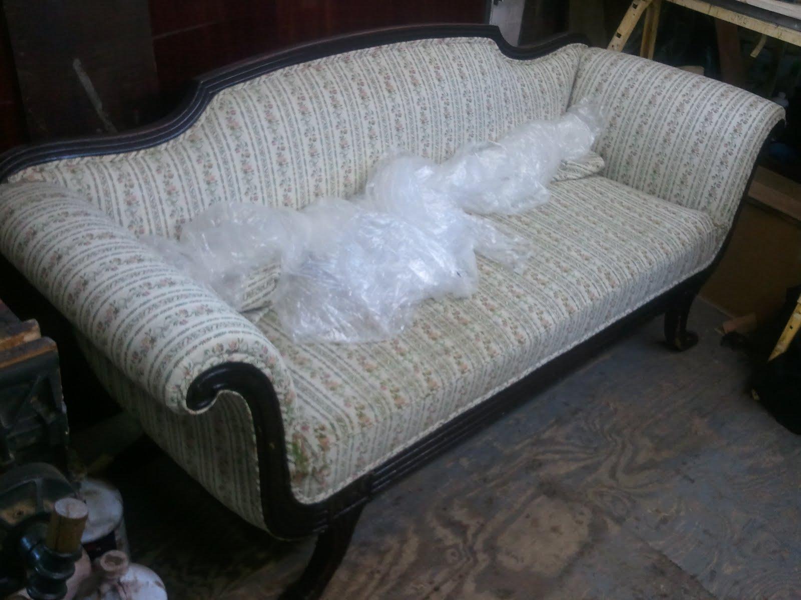 Duncan Phyfe Style Mahogany Sofa (ca. 1930) Part 1