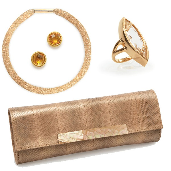 gold mother of the bride accessories