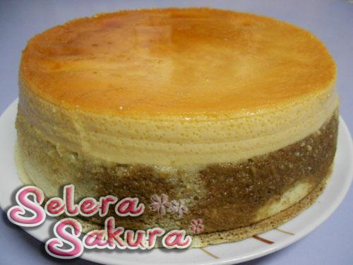 Kek Karamel Vanilla Coklat