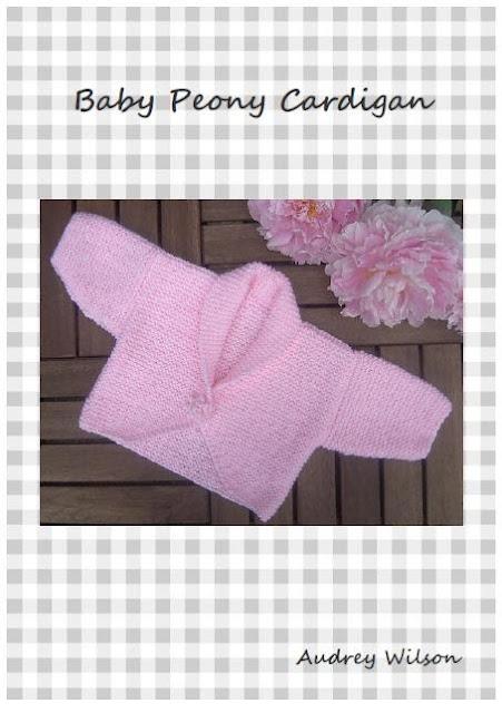Knitting Pattern For Age : Baby Girl Peonie Garter Stitch Cardigan PDF Hand Knitting Pattern. Age: 0 - 1...
