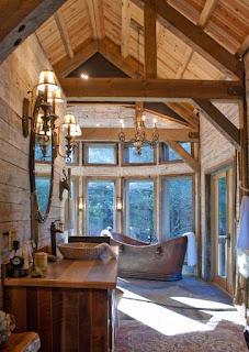 แต่งห้องน้ำด้วยไม้