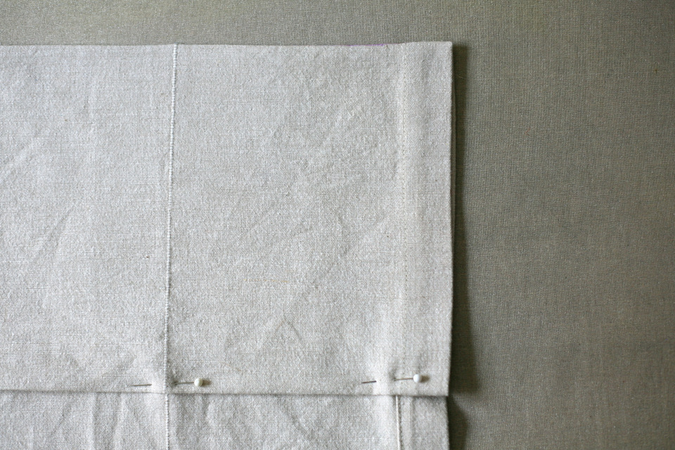 at the machine sew the hem in place 14 or less from the edge - How To Hem Curtains