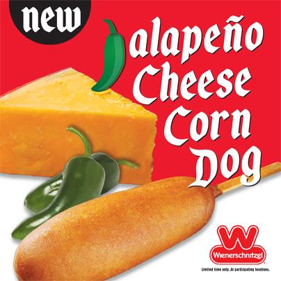 News: Wienerschnitzel - New Jalapeno Cheese Corn Dog | Brand Eating