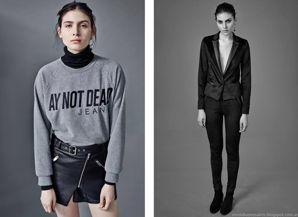 Ay Not Dead otoño invierno 2015. Camperas de cuero, sacos y tapados invierno 2015.