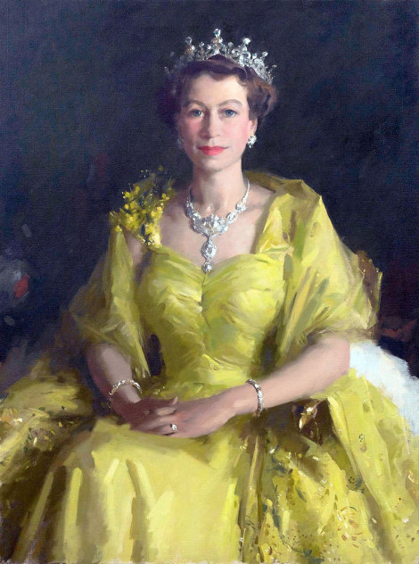 her majesty elizabeth the second in 1954 content in a