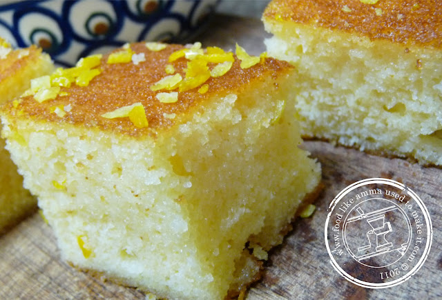 Eggless Sugee Cake Recipe
