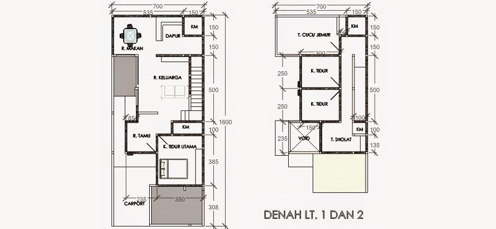 rumah lahan 7 x 16 m