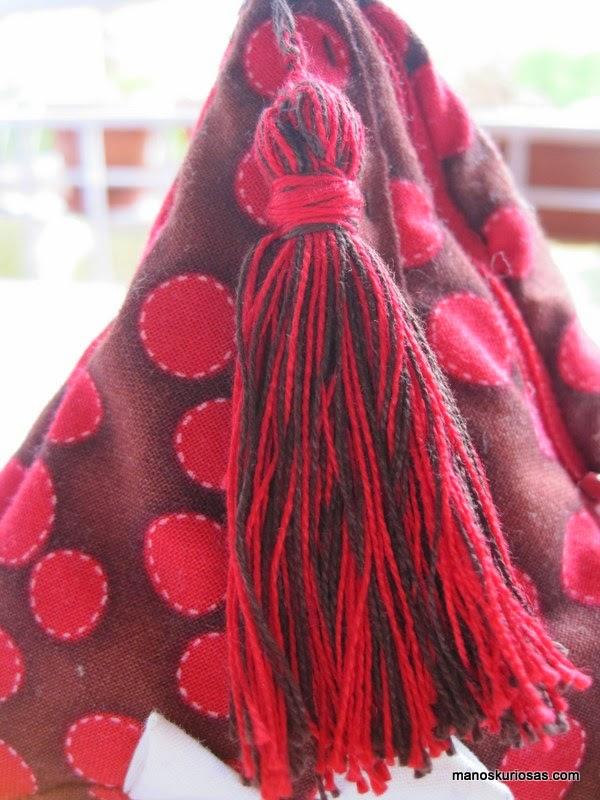 borlas hechas en patchwork