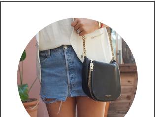 White Vest & DIY Cutoff Skirt