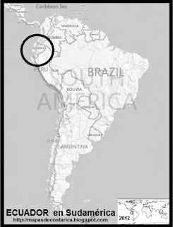 Ubicación de ECUADOR en Sudamérica, BING