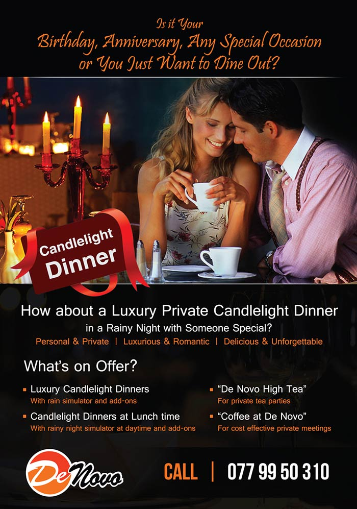 Luxury Private Candlelight Dinner.