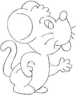 Desenhos de Rato para colorir