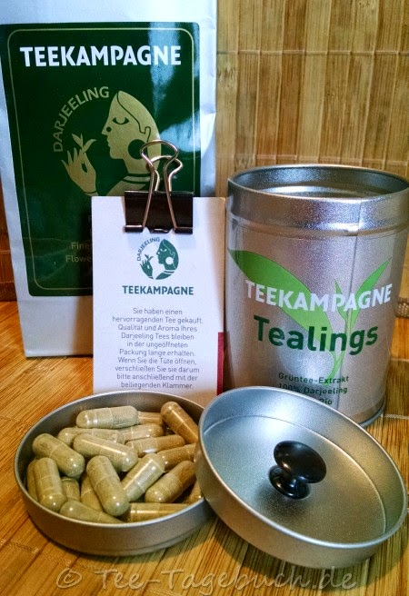 Teekampagne Darjeeling First Flush 2014 und Tealings Grüntee-Kapseln