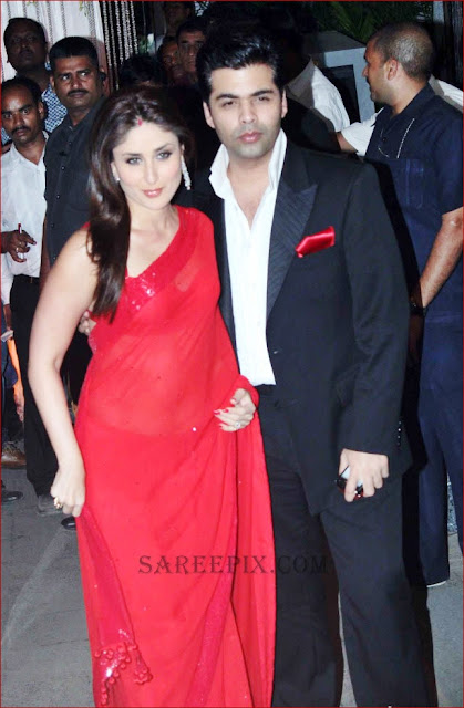 Kareena kapoor and karan johar at mahek shetty wedding reception
