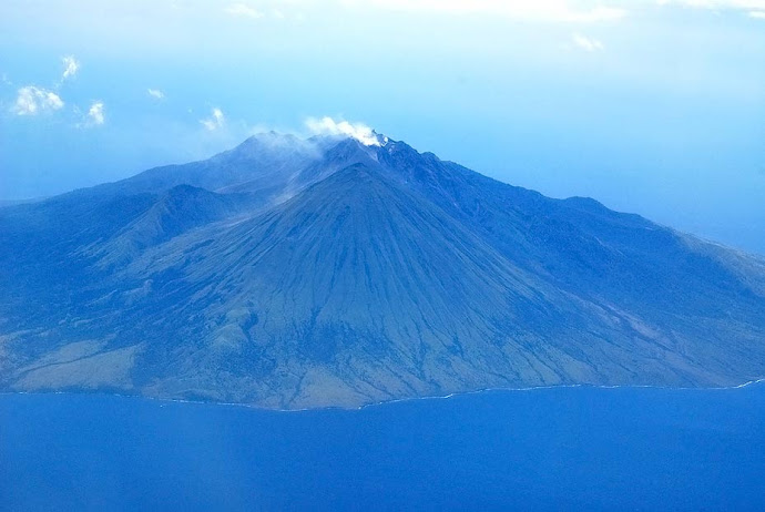 Fumarola de un volcán