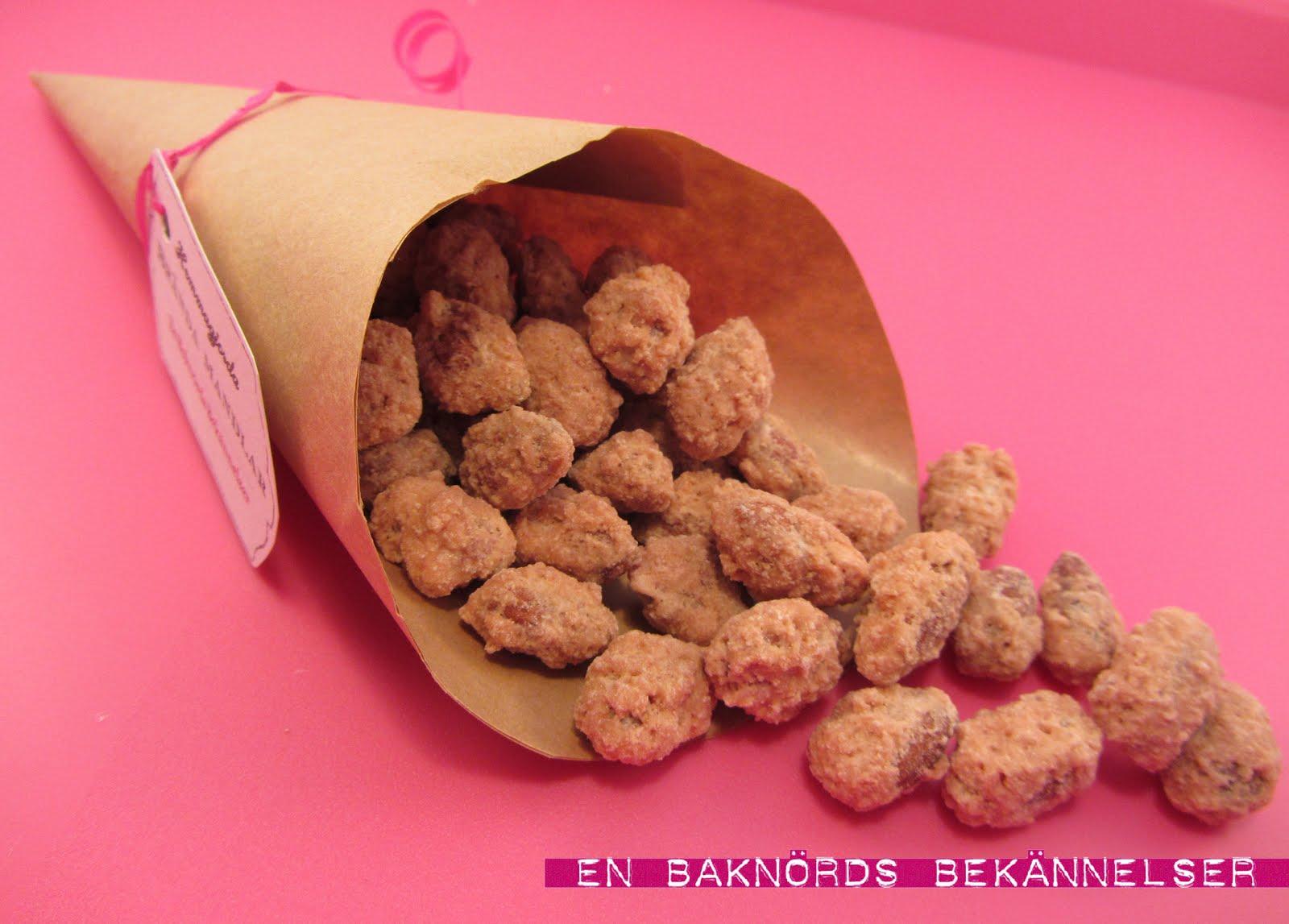 brända mandlar rosa