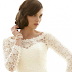 Short Wedding Dress With Lace Sleeves