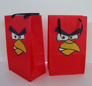 angry birds invitations banner goody bags party favors