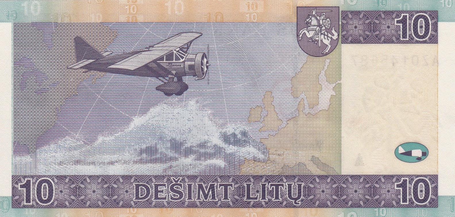 10 Lithuanian Litas