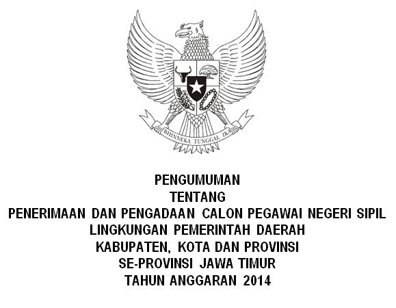 List Penerimaan CPNS Seluruh Jawa Timur