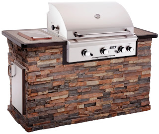 photo of a pre-made grill set up