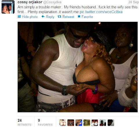 See Pics Of *Born Again* Cossy With Her Friend's Husband