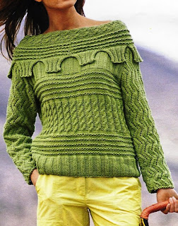 Jersey a punto de relieve en verde
