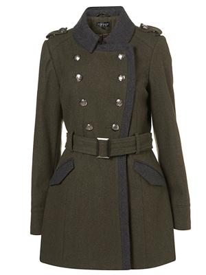 Military Topshop Coat