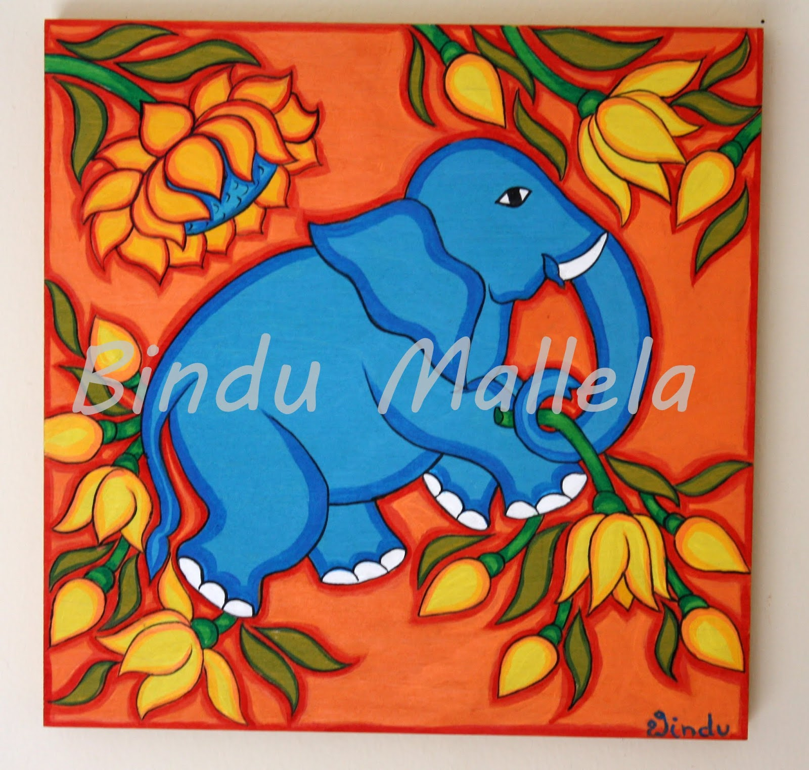 Crazy Painting Crazy For Colors Ajanta Motifs Inspired By Kerala Mural Painting